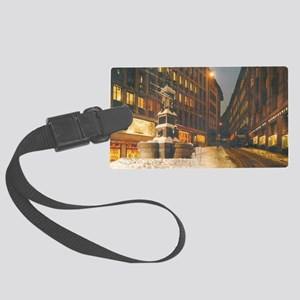 late at night Large Luggage Tag