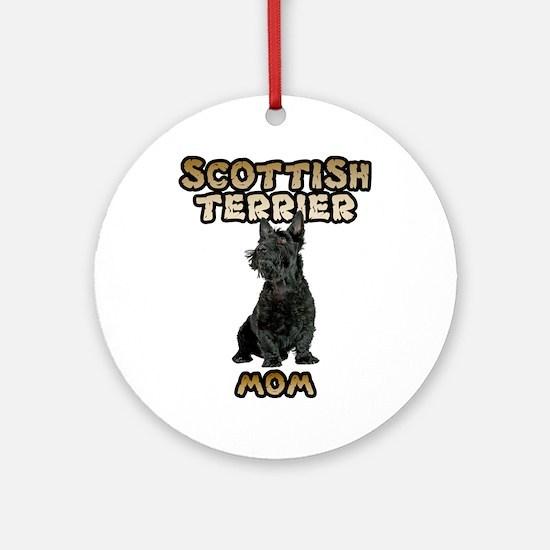 Scottish Terrier Mom Round Ornament