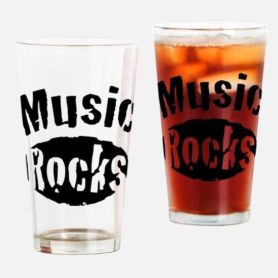 Music Rocks Drinking Glass