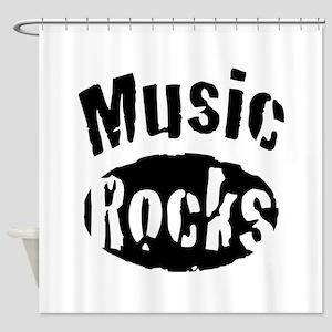 Music Rocks Shower Curtain