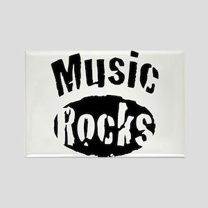 Music Rocks Rectangle Magnet