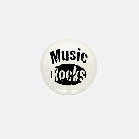 Music Rocks Mini Button