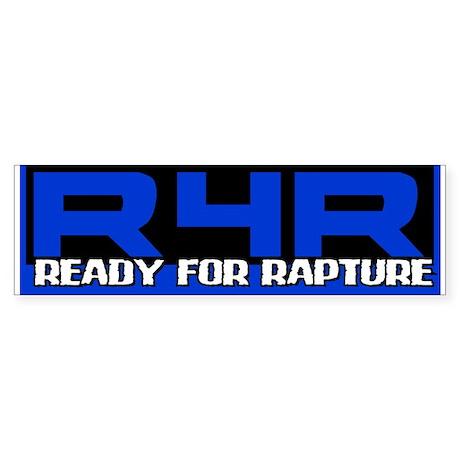 Ready For Rapture Blue Bumper Sticker