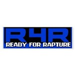 Ready For Rapture Blue Bumper Sticker