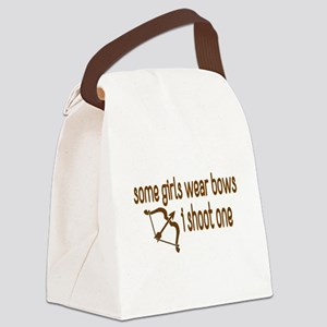 I Shoot Bows Canvas Lunch Bag