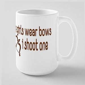 I Shoot Bows Large Mug