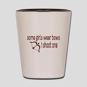 I Shoot Bows Shot Glass