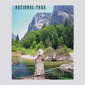Kings Canyon National Park Tall Throw Blanket