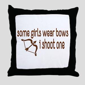 I Shoot Bows Throw Pillow