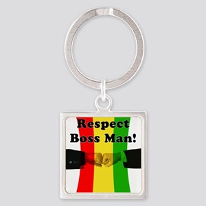 Respect Boss Man Square Keychain
