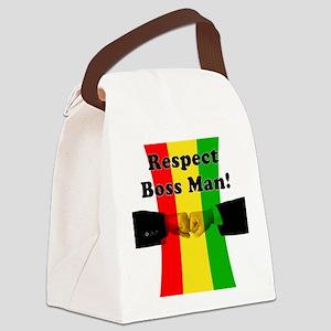 Respect Boss Man Canvas Lunch Bag