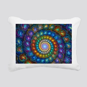 Textured Fractal Spiral  Rectangular Canvas Pillow