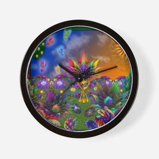 Apo Rainbow Garden Wall Clock