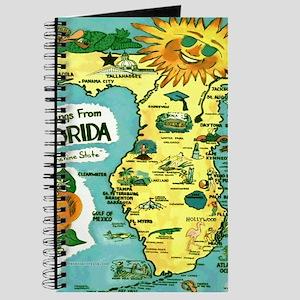 Vintage Florida Sun Map Journal