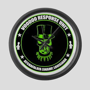 voodoo response unit Large Wall Clock