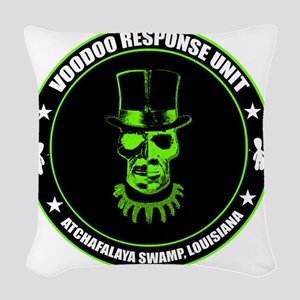 voodoo response unit Woven Throw Pillow