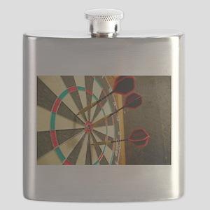Darts in a Dartboard Flask