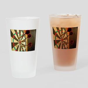 Darts in a Dartboard Drinking Glass
