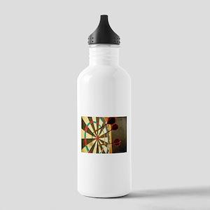 Darts in a Dartboard Water Bottle