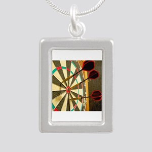 Darts in a Dartboard Necklaces
