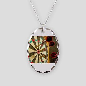 Darts in a Dartboard Necklace
