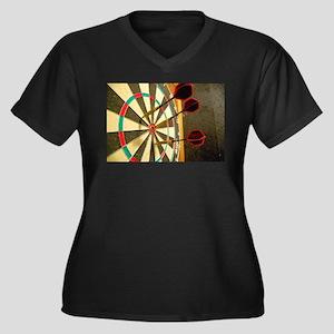 Darts in a Dartboard Plus Size T-Shirt