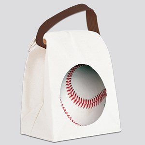 Leather Baseball Canvas Lunch Bag
