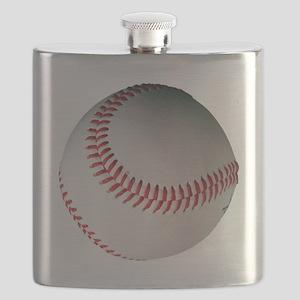 Leather Baseball Flask