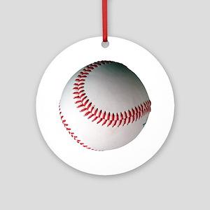 Leather Baseball Round Ornament