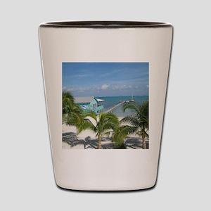 Beautiful Belize beach Shot Glass