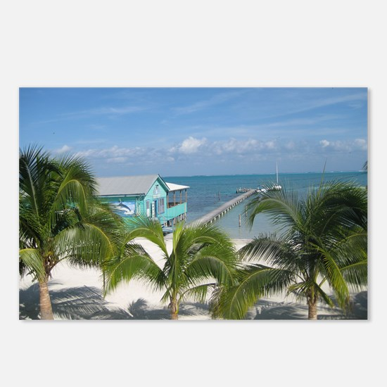 Beautiful Belize beach Postcards (Package of 8)