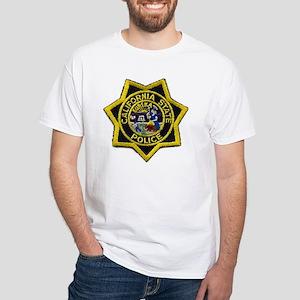 California State Police Badge White T-Shirt
