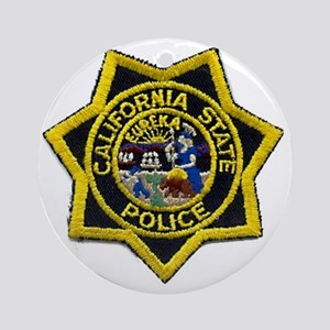 California State Police Badge Round Ornament