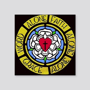 "Grace Faith Word Car Magnet Square Sticker 3"" x 3"""