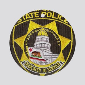 California State Police Patch Round Ornament