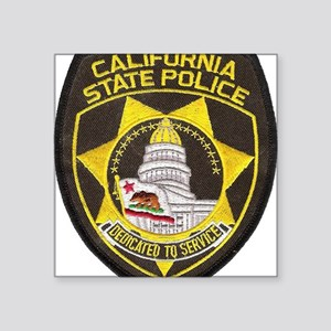 "California State Police Pat Square Sticker 3"" x 3"""