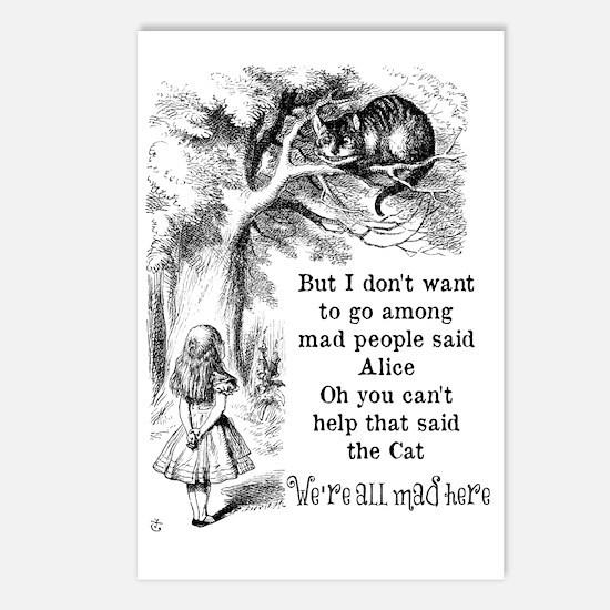 Alice in Wonderland Cat Postcards (Package of 8)