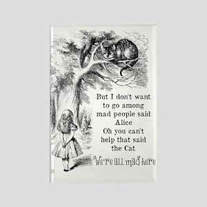 Alice in Wonderland Cat Rectangle Magnet