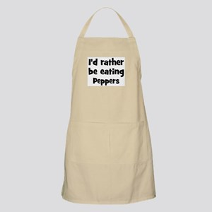 Rather be eating Peppers BBQ Apron