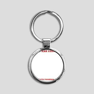 Kelley Kar Company License Plate Fr Round Keychain