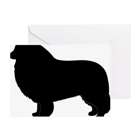 Rough Collie Silhouette Greeting Card