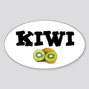 KIWI FRUIT - THONG! Sticker (Oval)