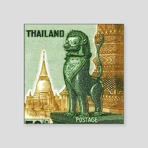 "1963 Thailand Imperial Guar Square Sticker 3"" x 3"""
