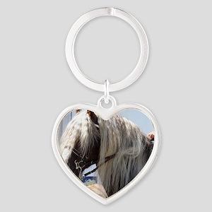 BLACK FOREST HORSE (Schwarz Waelder Heart Keychain