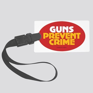 Pro Gun Ownership Sticker Large Luggage Tag