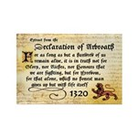 Declaration of Arbroath Rectangle Magnet (100)