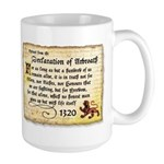 The Declaration of Arbroath Large Mug