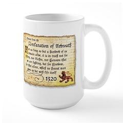 The Declaration of Arbroath Large Mug
