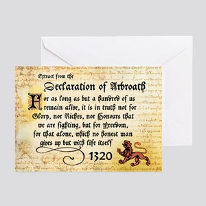 The Declaration of Arbroath Greeting Cards (6)