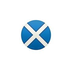 Scottish Saltire Mini Button (10 pack)